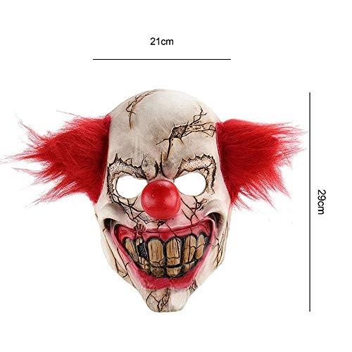 outopen Gruselige Clown-Maske für Böses Gruseliges Horror Cosplay Maskenade Weihnachten Dekoration ()