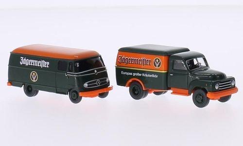Set Große Marken 2015: Jägermeister - Nr.5, Jägermeister, Modellauto, Fertigmodell, Wiking / PMS 1:87