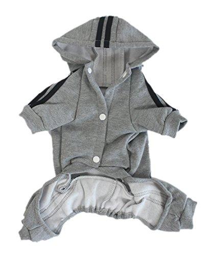 Zehui Haustier Hund Warmen Vier Beine Hoodies Welpe Pullover T-shirt Kleidung Winter-Pullover Bekleidung Grau XXL - 2