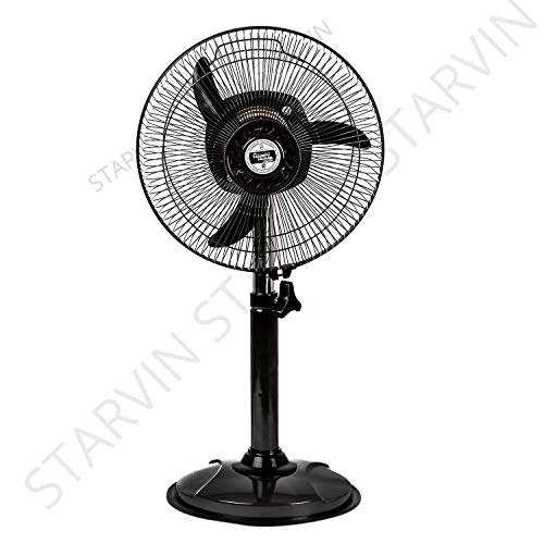 Starvin HAPPY HOME || Laurels || Mini Pedestal Fan || ISI Approved Copper Motor || 1 Year Warranty || Sweep- 300 MM, 12 Inches,metal body Gray Cyclone G-85