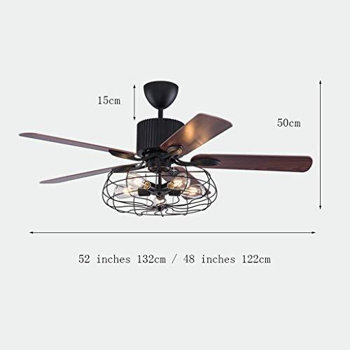 Iluminación de interior 48 Pulgadas / 52 Pulgadas Retro Comedor Ventilador de...