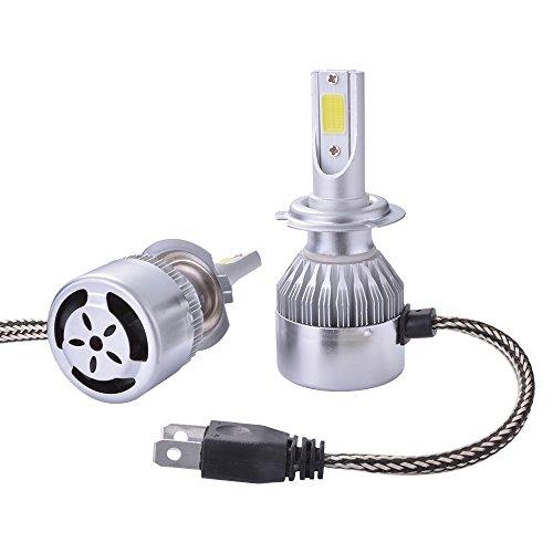 XCSOURCE® 2pcs 10000LM 55W LED llevó la linterna H7 del halógeno del bulbo de lámpara incorporado que refrescaba el ventilador 6000K blanco LD974