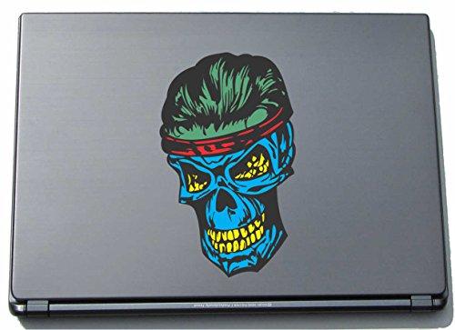 Preisvergleich Produktbild Laptopskin Aufkleber Decal Sticker Laptop 90mmx150mm Schädel in Aktion