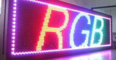 Gowe 1/Full Color LED Moving-Display/P10mm/Outdoor LED-Modul/41cm * 137* 9cm/Panel Schild/1-4lines/Partition/RGB/ethnet -