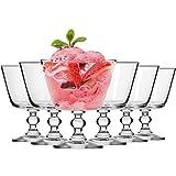 Krosno Copas Helado Postre Cristal Vasos   Conjunto 6 Piezas   380 ML   Krista Collection Uso en Casa, Restaurante y en Fiestas   Apto para Microondas y Lavavajillas