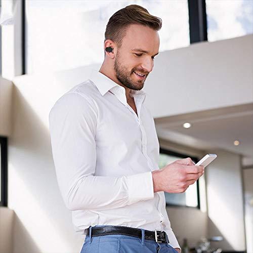 Bluetooth 5.0 drahtlose Ohrhörer, drahtlose Kopfhörer Bluetooth Ohrhörer drahtlose Kopfhörer mit Lade Fall Mini 3D Stereo Sound Binaural für IPhone Samsung Android Telefone (schwarz) - 4