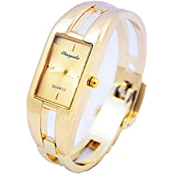 Unitedeal Kimio Gold Quartz Women Bangle Bracelet Wrist Watch / A Stunning Open Bangle Style Wrist Watch For Ladies