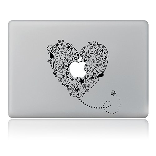 Cinlla® Love Heart Insects Pattern Laptop AufKleber Notebook Schutzfolie Haut aus Vinyl Skin Sticker Decal für Apple Macbook Air 11