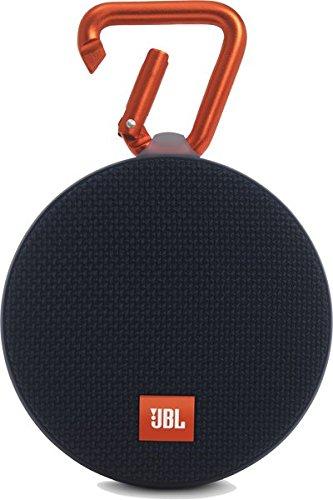 JBL Clip 2 Wasserdichter Tragbarer Wiederaufladbarer Lautsprecher mit IPX7 Wasserschutz, Aux-Konnektivität und Integrierter Freisprechfunktion - Schwarz (Bluetooth Clip Für)