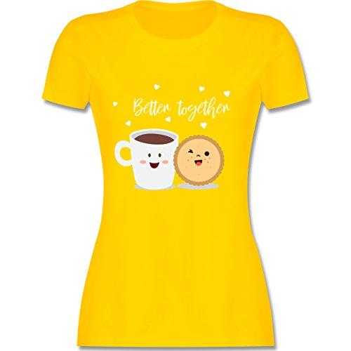 Shirtracer Valentinstag - Better Together - Damen T-Shirt Rundhals Gelb