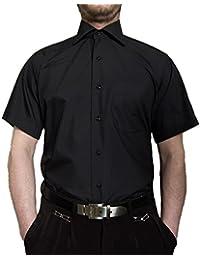 b91170aca7f6dc Tonelli Designer Herren Kurz Arm Hemd Bügelfrei klassischer Kragen  Herrenhemd Kentkragen viele Farben…