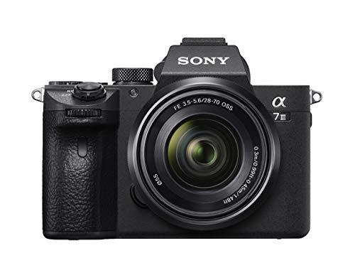 Oferta de Sony Alpha 7 III - Cámara evil de fotograma completo con objetivo Zoom Sony 28-70mm f/3.5-5.6 (Enfoque automático 0.02s, estabilización de imagen óptica de 5 ejes, 4K HLG, mayor duración de Batería)
