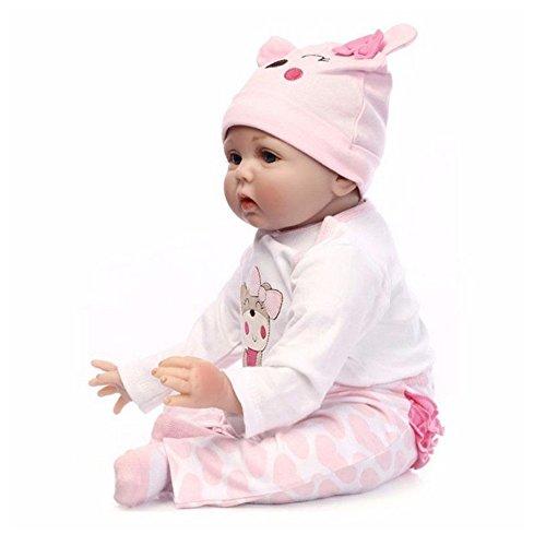 """22""""hecho a mano realista recién nacido muñeca bebé de vinilo de silicona cuerpo completo regalo de Navidad o de cumpleaños"""