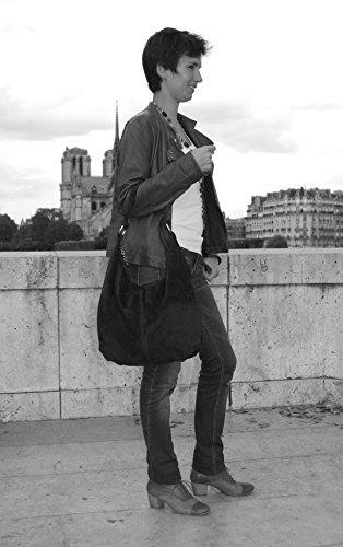 Borsa pelle donna a spalla e a mano -Modello love - 48 x 38 x 14 cm (L x L x A) - Bestseller Estate 2015 MELA VERDE
