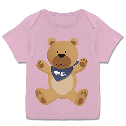 Up to Date Baby - Kleiner Bär Hug Me - 56-62 (2-3 Monate) - Rosa - E110B - Kurzarm Baby-Shirt für Jungen und Mädchen in Verschiedenen Farben (Hugs-wert T-shirt)
