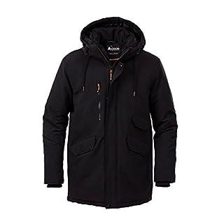 Acode 108586-940-S 1447 Men's Winter Parka, Black, Small