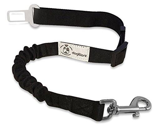 Hunde-Sicherheits-Gurt - Höchste SICHERHEIT FÜR HUND UND FAHRER durch elastische Ruckdämpfung - Stabiler universal Autogurt-Adapter für Hunde-Geschirr oder Halsband - Anschnallgurt für große und kleine Hunde - extra stabiler, hochwertiger Profi-Karabiner - Gratis-Ebook: Die 11 beliebtesten Hundespiele (Extra-großes Hundegeschirr)