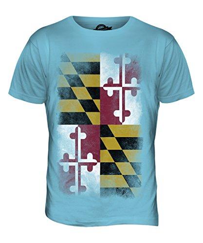 CandyMix Bundesstaat Maryland Verblichen Flagge Herren T Shirt Himmelblau