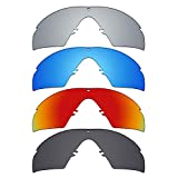 Mryok polarisierte Ersatzgläser für Oakley Industrial M Frame 3.0 Sonnenbrille – Stealth Black/Fire Red/Ice Blue/Silver Titanium