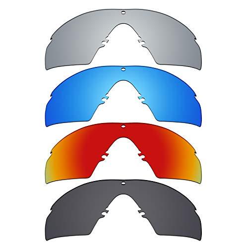 Mryok polarisierte Ersatzgläser für Oakley Industrial M Frame 3.0 Sonnenbrille - Stealth Black/Fire Red/Ice Blue/Silver Titanium