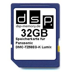 DSP Memory Z-4051557430747 32GB Ultra High Speed Speicherkarte für Panasonic DMC-TZ58EG-K Lumix Digital Kamera