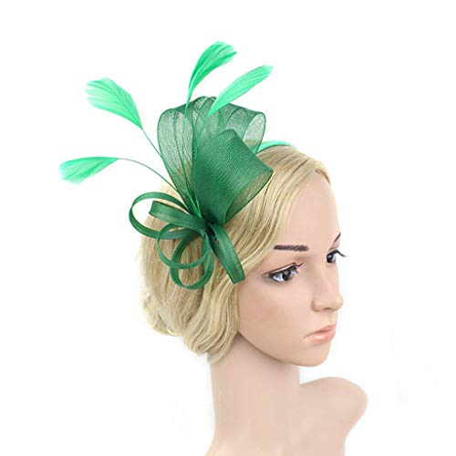 h feder stirnband kopfbedeckungen haarspange zubehör für frauen tag cocktail tea party hochzeit (farbe: grün) ()