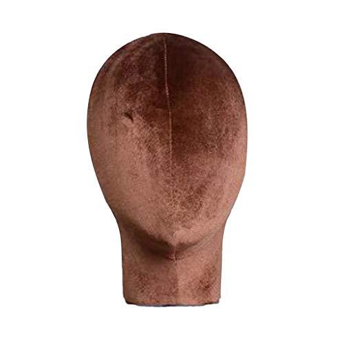 FLAMEER Schaufensterpuppe Kopf Modell Puppe für Frisuren/Perücken/Hüten/Kopfbedeckungen Anzeigen - Kaffee