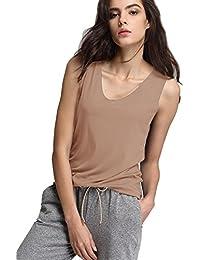 Escalier Mujer Ocasionales Camiseta sin Mangas Tapas Camisa del Algodón Top del Deporte