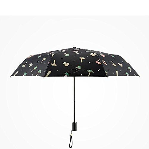 Regenschirm–winddicht verstärkter Rahmen Pilz weiblich zusammenklappbar Sunny Regenschirm violett Ultraviolett Sonnenschirm 3Fold - Regenschirm Für Fotografen