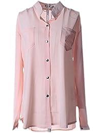 18083fb7f86bd9 Vian Lundgaard - Damen Frauen schicke Bluse Tunika Shirt mit Taschen, 34-40,