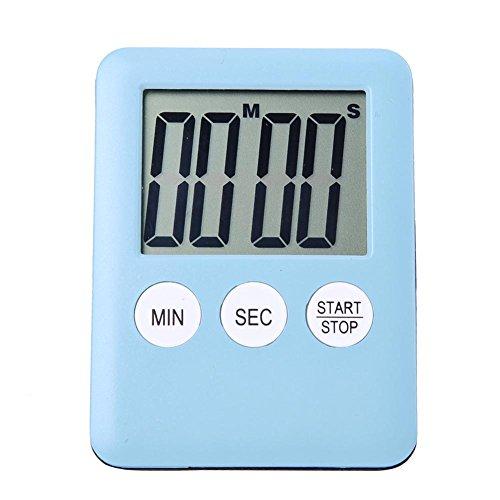 Magnetisches LCD Anzeigen Digital Zeitzähler für Küchen Koch Gymnastik Lauf blau