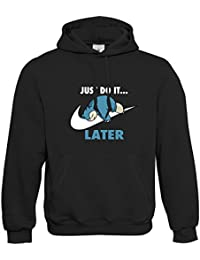 Prism Clothing Co. Mens Just Do It. Later Snorlax Hoodie S - 5XL