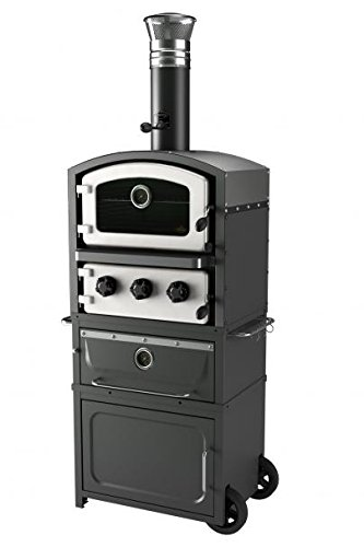 Fornetto Alto freestanding wood fired oven and smoker white