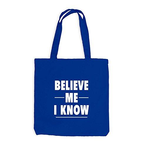 Me Jutebeutel Royalblau I Believe Know 4w4xn5rZ