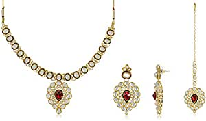 Ava Traditional Jewellery Set for Women (Gold) (S-VS-030)