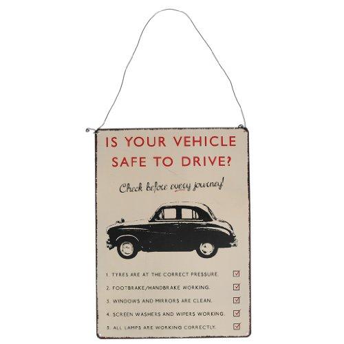 Vintage di sicurezza dei veicoli in metallo