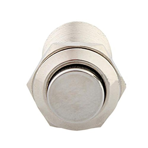 lovelifeast 12mm 12V Push Button selbstsperrenden Metall Schalter für Auto KFZ Fahrzeug Auto Durable 2A/250V Mini -
