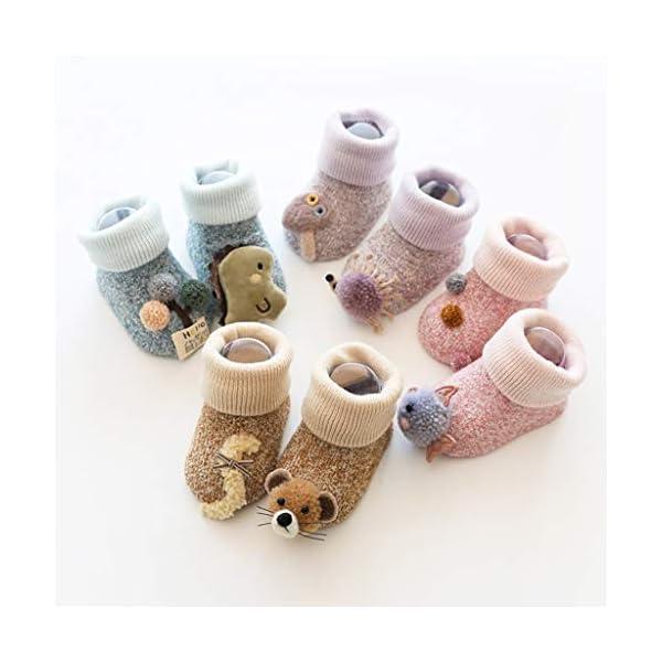 ZOOMY Baby Boy Girl Infant Kid First Walkers Sock Calcetín Antideslizante Suela para Suelo - purle 3