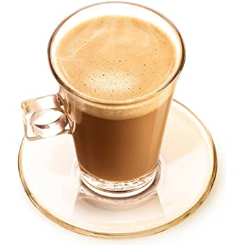 Nescafé Dolce Gusto Tasses à Cortado Espresso en Verre avec Sous-tasse, Lot de 2