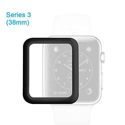 aceyoon Tempered Glass Screen Protector 38mm For Apple Watch Series 3 HD Ultra Thin Full Protection Apple Watch Protective Case Cover