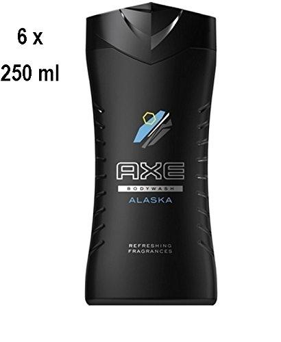 """6 x Axe Men Duschgel """"Alaska"""" - 250 ml"""