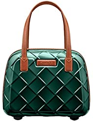 Stratic Leather & More Beauty Case Case, 36 cm, 15 liters, Green (Smaragd)