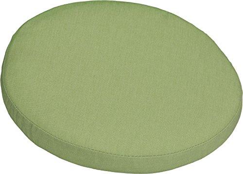 Polster Stuhlkissen Balkonkissen apfelgrün Dralon Bezug 40 cm rund mit Reissverschluss