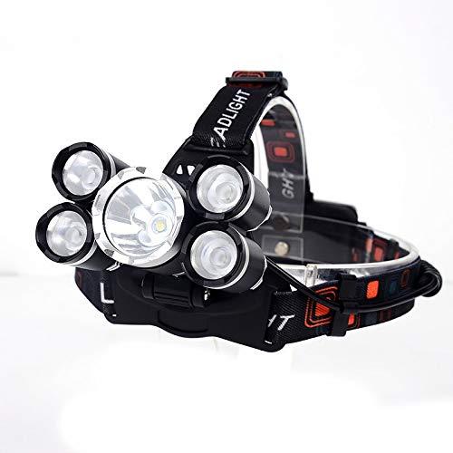 Lampade Da Testa Faro Anteriore A 5 Led Xm-L T6 Faro Q5 A 20000 Lumen Lampada Frontale A Led Per Luce D'Emergenza