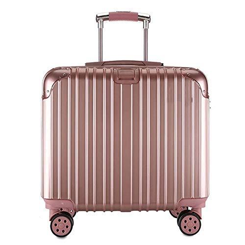 HAMIMI Trolley Koffer kleinen Koffer 17-Zoll-Business-Koffer Männer und Frauen Querschnitt Trolley Kofferraum (Color : Rose Gold) -