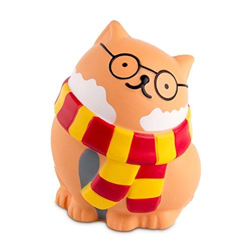 BEYUMI Langsam steigendes Squishy, Brille Katze Squishy Spielzeug, süß duftenden Vent Charms Spielzeug niedlichen Kind Spielzeug Hand Spielzeug, schöne Stressabbau Spielzeug, dekorative Requisiten