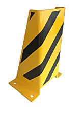 1A-Safety AFS-U Protection anti-collision en acier, LxlxH : 245 mm x 200 mm x 400 mm, forme en U, jaune/noir