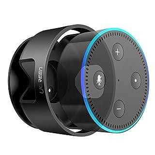 UGREEN Dot Halterung Wandhalterung Ständer Halter Zubehör unterstützt für Echo Dot 2. Generation, Kabel ordentlicher, 3M Aufkleber in Wohnzimmer, Badezimmer, Schlafzimmer usw. schwarz
