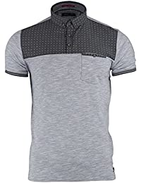 c4d9a6cb3 Mens Polo T-Shirt by Brave Soul Collar Short Sleeved Casual Summer Top S M  L XL