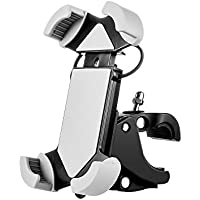 Fahrrad Handyhalter, VOGEK Universal Silikon Handyhalterung Fahrrad Motorradhalter Fahrradlenker Handy Halterung für iPhone/Samsung/BlackBerry/HTC/GPS GPS oder Geräte mit 4-6 Zoll Bildschirm (Grau)